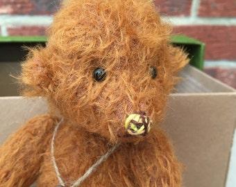 Handmade Artist Teddy Bear Buzz by Fran's Bears, 9.5 inches (24cm) OOAK