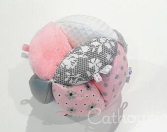 Ball grip 'Clarisse' multi-textures way Montessori or quiet ball, Montessori Ball