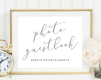 Photo Guestbook Printable. Photo Guestbook Sign. Printable Photo Guestbook. Photo Guest Book Sign. Photo Guest Book Printable ppan