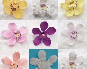 3 Gumpaste Cymbidium Orchids - Various Colors Available! Fondant Edible Cake Toppers :)