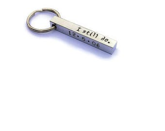 Personalized Bar Keychain - Anniversary Gift - Personalized Keychain - Husband Gift - Gift for Him - Custom 3D Bar - Men's Keychain