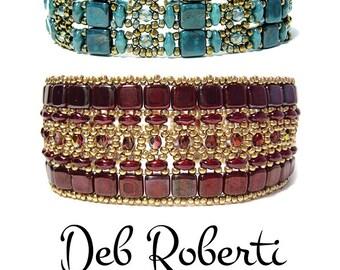 Brocade Bracelets beaded pattern tutorial by Deb Roberti
