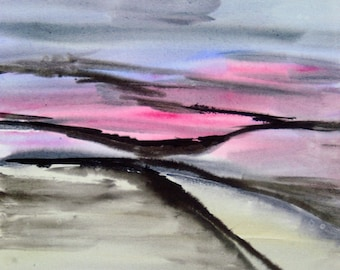 "Watercolor ""silent landscape 16-2"" original"