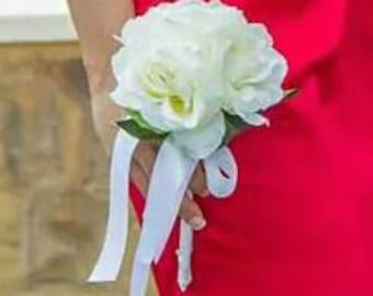 Brides or bridesmaid bouquets.  Made to order.