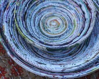 Recycled Newspaper Bowl (Small Size)