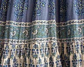 S - 80s Boho Maxi Dress - Spaghetti Strap Indian Gauze - Paisley - Hippie  - Gypsy - Summer Sun Dress