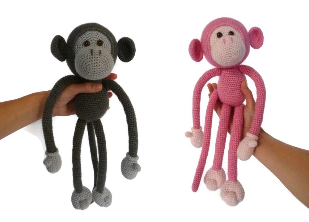 Easy Amigurumi Pdf : Mike the monkey amigurumi crochet pdf pattern en dk nl