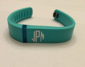 Fitbit Monogram Decal, Fitbit sticker, Small monogram decal