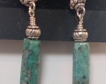 65-Turquoise Earrings