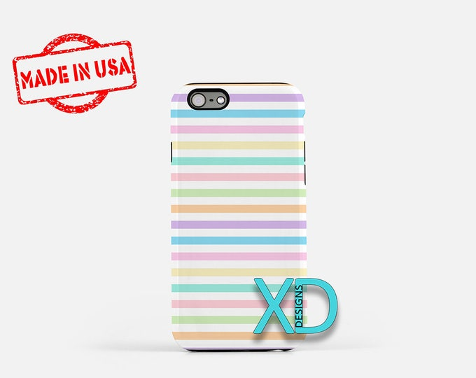Stripe iPhone 8 Case, Rainbow Stripe iPhone 8 Case, Pastel iPhone 6s Case, Pastel Stripe iPhone 8 Case, Pastel Stripe Phone Case, Pastels