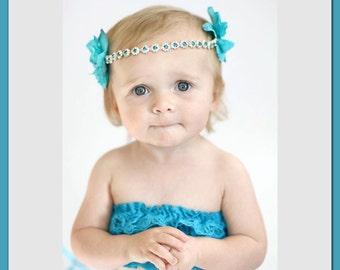 Rhinestone Headband, Flower Girl Rhinestone Headband, Flower Girl Headband, Baby Girl Headband, Newborn Headbands