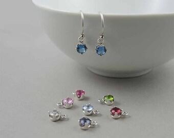 Bridesmaid Earrings - wedding gifts for Bridesmaids, 925 sterling silver gemstone birthstone earrings