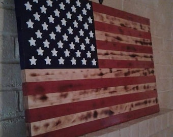 Handcrafted Rustic American Flag