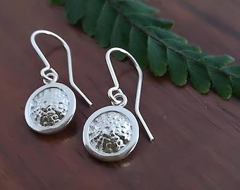 Sterling Silver Kina shell style earrings