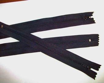 1 zipper - black tone - nine - useful for purse, wallet, skirt - 20 cm