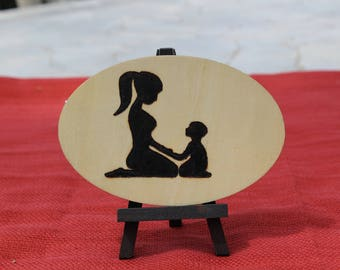 Mother Son, Mother and Child Art, Mother and Child, Big Sister, Sister Gift, Gifts for Sister, Wood Burn, Wood Art, Mother's day