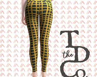 William Johnson Graphic Check Leggings - African American Artists - 1950's - Racial Equality - Black Lives Matter