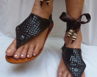 Hippy Chic,Boho, Sole Pakashoes with Unique BrownLeather Cover Just for YOU Free Shipping switchable(2choices) r