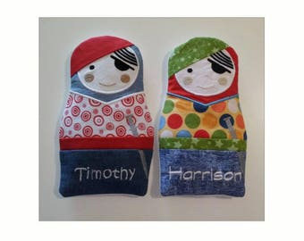 Personalised Heat Pack - Custom Made Pirate - Hot & Cold Pack Pals – Character Heat Bag and Cold Pack