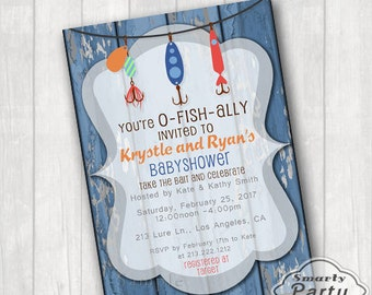 Fishing Baby Shower Invitations The Best Catch Of The