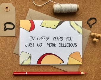 Birthday Greetings Card for Cheese Lovers