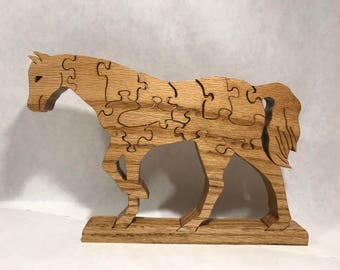 Wooden Horse Jigsaw Puzzle
