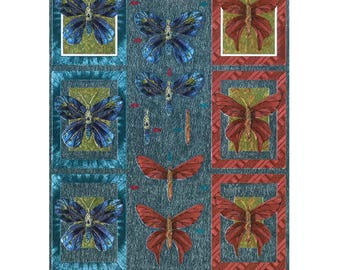 Pre - dec metal butterflies framed-DU248866