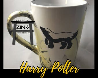Hufflepuff Inspired Coffee Cup