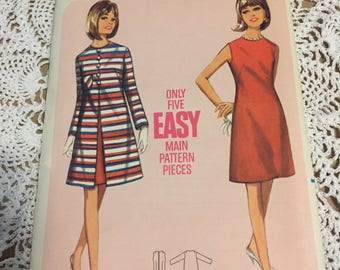 Butterick 4295 - 1960's Slip Shift Dress Pattern