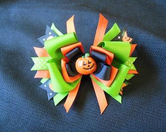 Little Pumpkin hairbow, perfect for Halloween