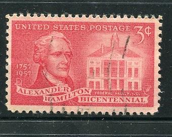 Alexander Hamilton Used Stamps/20 Used Hamilton Stamps/USA Hamilton Used Red Stamps
