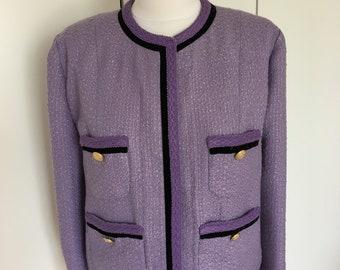 Lavander Boucle Chanel Style Jacket