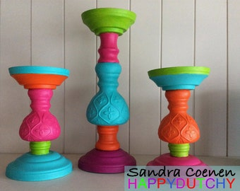 Candlestick Happy Candle Holder