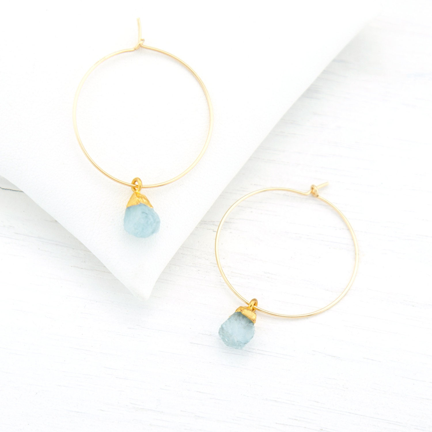 aquamarine tear shower listing fullxfull gemstone drop il natural minimalist circle gift gemstones delicate genuine bridal earrings