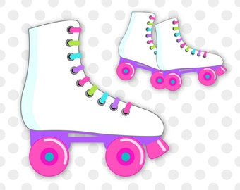 Roller skates clip art, Roller Skating clip art, Skating clipart, Skates clip art, Roller skating birthday, Commercial Use, INSTANT DOWNLOAD