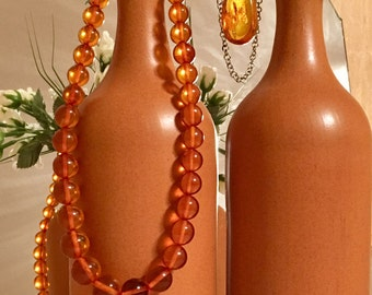 Beads from Baltic amber. 1970, USSR.