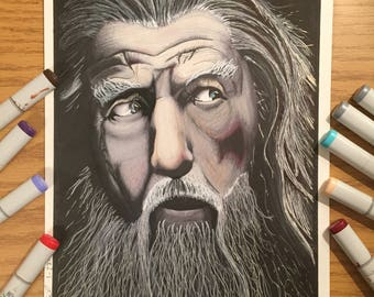 Gandalf Marker Art Print