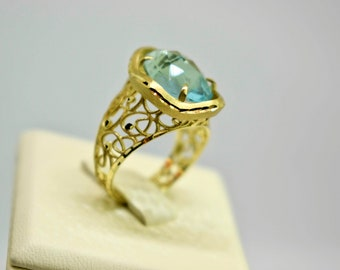 Topaz wedding ring Etsy