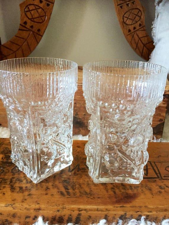 Josef schott drinking glasses from Smålandshyttan Sweden / Swedish glass midcentury modern
