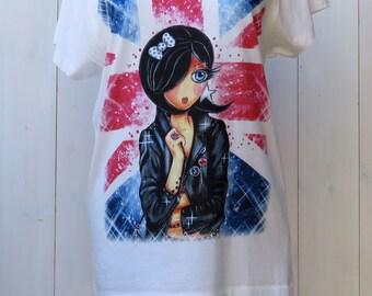 Loose women SCARLET London Union Jack cotton modal t-shirt