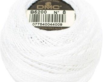 DMC B5200 Perle Cotton Thread | Size 8 | Snow White