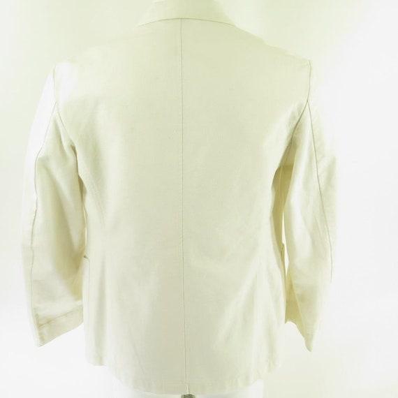 40 8 Button Cotton Sport Summer Coat 2 1 White I05M USA Blazer Vintage 50s Mens Tqw6P
