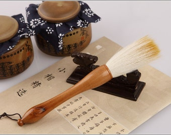 Free Shipping 2.3x7.9cm Goat Weasel Hair Combined Grab Brush / JHJZ - Cypress Wood Handle - Oriental Calligraphy Painting - 0026