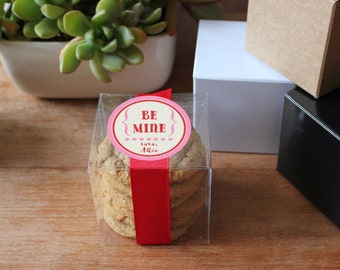 12 - Valentine's Day Favor Boxes - Be Mine Label   Class Valentines   School Valentines   Personalized Valentines   Valentine's Day Favors