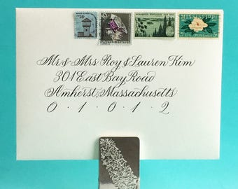Elegant Calligraphy Envelope Addressing for Weddings and Special Occasions