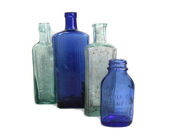 English Antique Bottle Set
