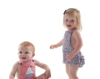 Romper Pattern / Sunsuit Pattern / Boy's or Girl's Pattern / Toddler Romper / Ruffled Seat / Childrens Corner  / Bailey Pattern /  #294