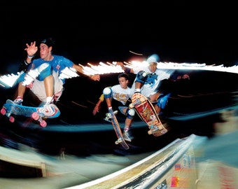 "80s Skate Photo - Doug Smith Mark Gonzales Steve Caballero Eighties Skateboarding Photograph 18 x 24"" Print"