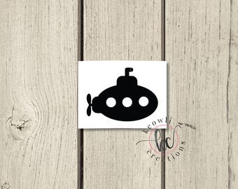 Submarine Vinyl Decal