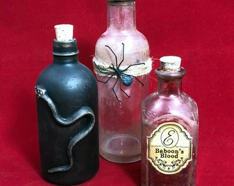 Apothecary Bottles Group E